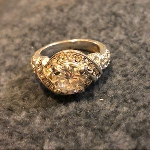 Cubic zirconia- sterling silver ring